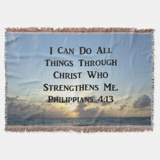 HET RUSTIGE PHILIPPIANS ONTWERP VAN DE 4:13FOTO DEKEN