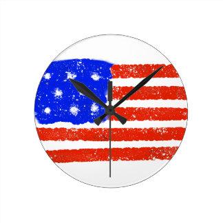 Het Ruwe Gruis van de Vlag van de V.S. Ronde Klok
