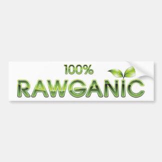 Het Ruwe Voedsel Rawganic van 100% Bumpersticker