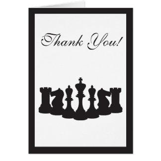 Het schaak dankt u kaardt kaart
