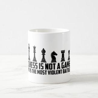 Het schaak het is geen spel het een Slag is Koffiemok
