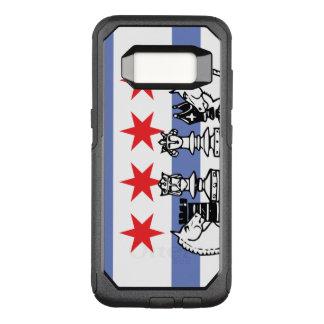 Het Schaak van de Vlag van Chicago OtterBox Commuter Samsung Galaxy S8 Hoesje