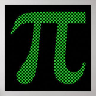 Het Schaakbord van het Pixel van pi Poster