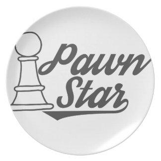 het schaakclub van de pandster diner bord