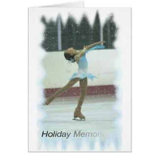 Het schaatsen geheugen briefkaarten 0