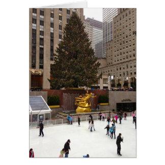 Het Schaatsen NYC New York van het ijs de Kaart