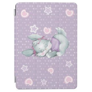 Het schattige Konijntje van de Slaap in roze en iPad Air Cover