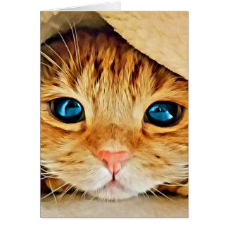 Het schattige Oranje Katje van de Gestreepte kat Briefkaarten 0