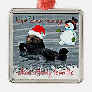Het schattige Ornament van de Otter van het Zee