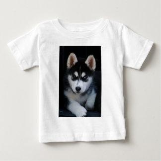 Het schattige Siberische Schor Puppy van de Hond Baby T Shirts