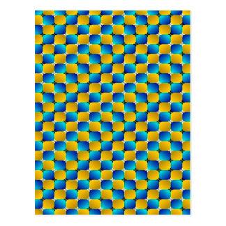 Het Scheeftrekken van de Optische illusie van de Briefkaart