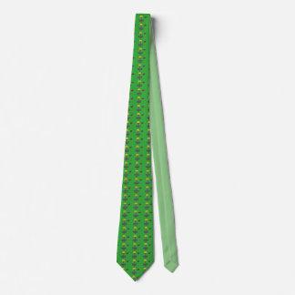 Het schijfgolf helemaal over mand & schijfpatroon custom stropdassen