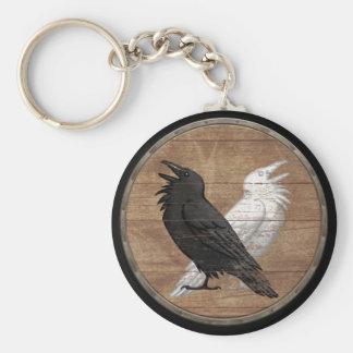 Het Schild Keychain van Viking - de Raven van Odin Sleutelhanger
