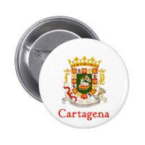 Het Schild van Cartagena van Puerto Rico Ronde Button 5,7 Cm