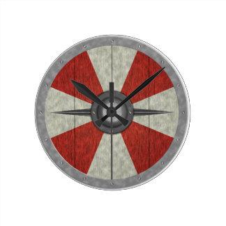 Het Schild van de Cirkel van Viking Ronde Klok Medium