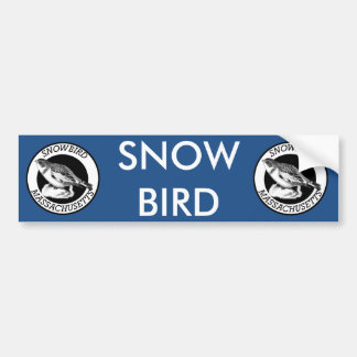 Het Schild van Massachusetts Snowbird Bumpersticker