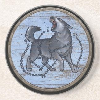 Het Schild van Viking - Fenrir Zandsteen Onderzetter