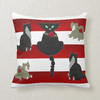 Het schilderachtige Patroon van Katten Sierkussen