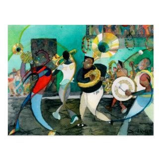 """Het Schilderen """"New Orleans van de muziek Jazz """" Briefkaart"""