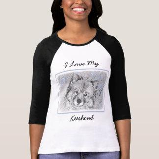 Het Schilderen van Beth van Keeshond - het Leuke T Shirt