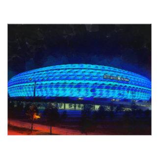 Het schilderen van de Arena van Alliaz Persoonlijke Folder