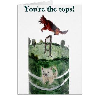 Het Schilderen van de Behendigheid van de hond Briefkaarten 0