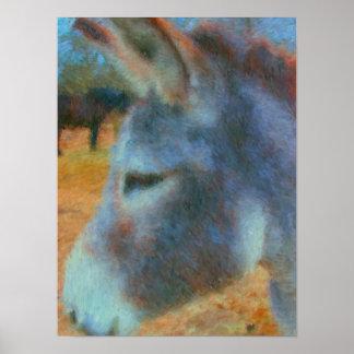 Het schilderen van de ezel en van het Paard poster