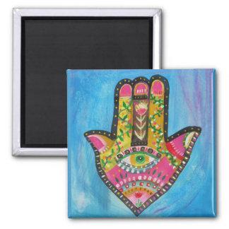 Het schilderen van de Hand van Hamsa Magneet