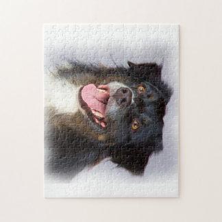 Het schilderen van de hond - hondkunst - legpuzzel