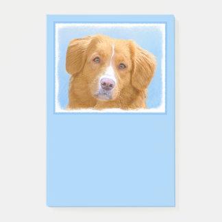 Het Schilderen van de Hond van de Retriever van de Post-it® Notes