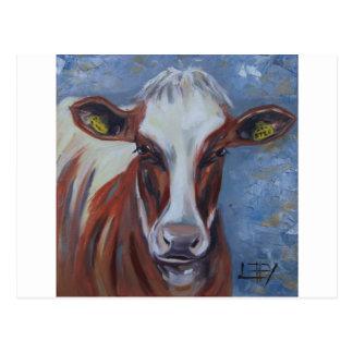 Het Schilderen van de koe, het Decor van de Koe, Briefkaart