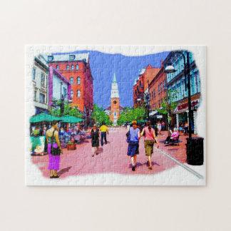 Het Schilderen van de Straat van Vermont Puzzel Legpuzzel