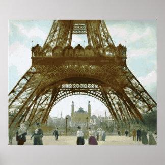 Het Schilderen van de Toren van Eiffel Poster
