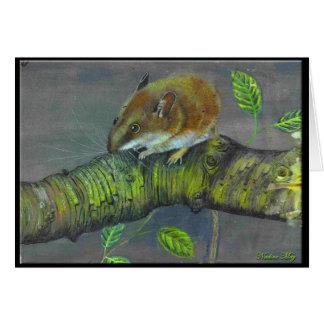 Het schilderen van de veldmuis briefkaarten 0