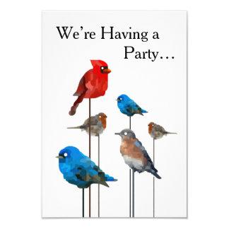 """Het Schilderen van de vogel """"van de Partij"""" 8,9x12,7 Uitnodiging Kaart"""
