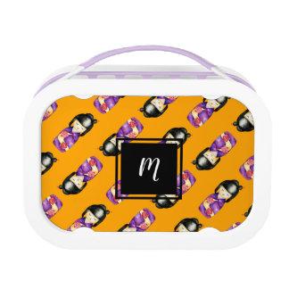Het Schilderen van de Waterverf Kokeshi Patroon Lunchbox