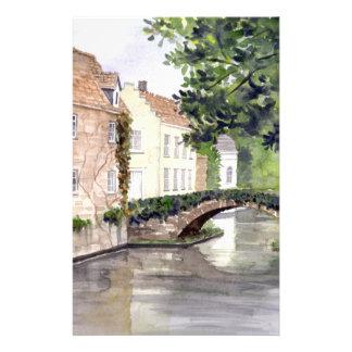 Het Schilderen van de Waterverf van Brugge door Briefpapier