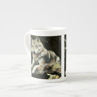 Het Schilderen van de Wolf van het hout Theekop