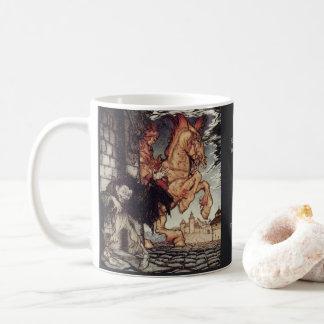 Het schilderen van Edgar Allan Poe Metzengerstein Koffiemok