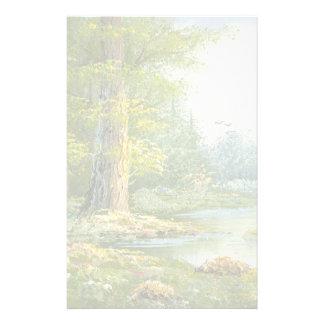 Het schilderen van een Bos met Rivier Briefpapier