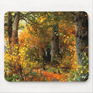 Het Schilderen van het Landschap van de herfst Muismat