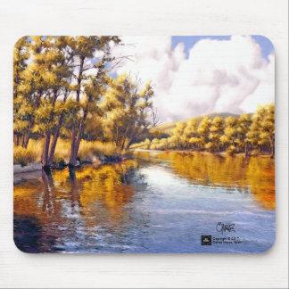 Het Schilderen van het Landschap van de Rivier van Muismatten