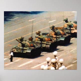 Het Schilderen van het Man van de tank Poster