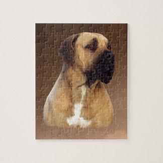 Het Schilderen van het Portret van de Hond van de Puzzel
