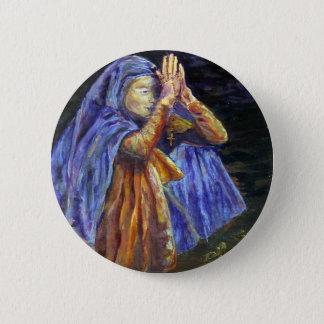Het schilderen van Mary Rosary van de hagel Art. Ronde Button 5,7 Cm