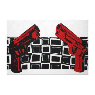 Het Schilderen van pistolen Canvas Afdrukken