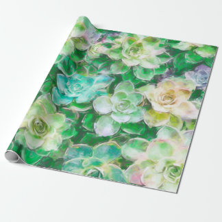Het Schilderen van Succulents door Cindy Bendel Inpakpapier
