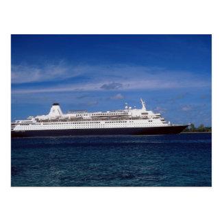 Het schip van de cruise, Nassau, de Bahamas Briefkaart