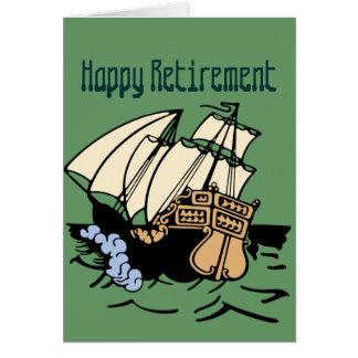 Het Schip van de pensionering Wenskaart