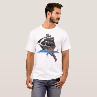 Het Schip van de piraat versus de ReuzePijlinktvis T Shirt